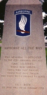 Kia Rochester Mn >> Sky Soldiers of the 173d Airborne Brigade, Various Memorials to these brave paratroopers